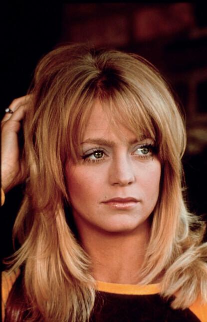 SVEISEN: Goldie Hawn anno 1975 definerer hårtrendene i 2021. FOTO: Columbia/Kobal/REX