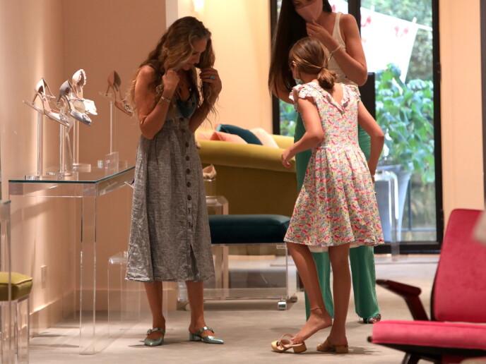 SKODILLA: Det kan se ut som at Tabitha har arvet mammas skodilla! FOTO: NTB