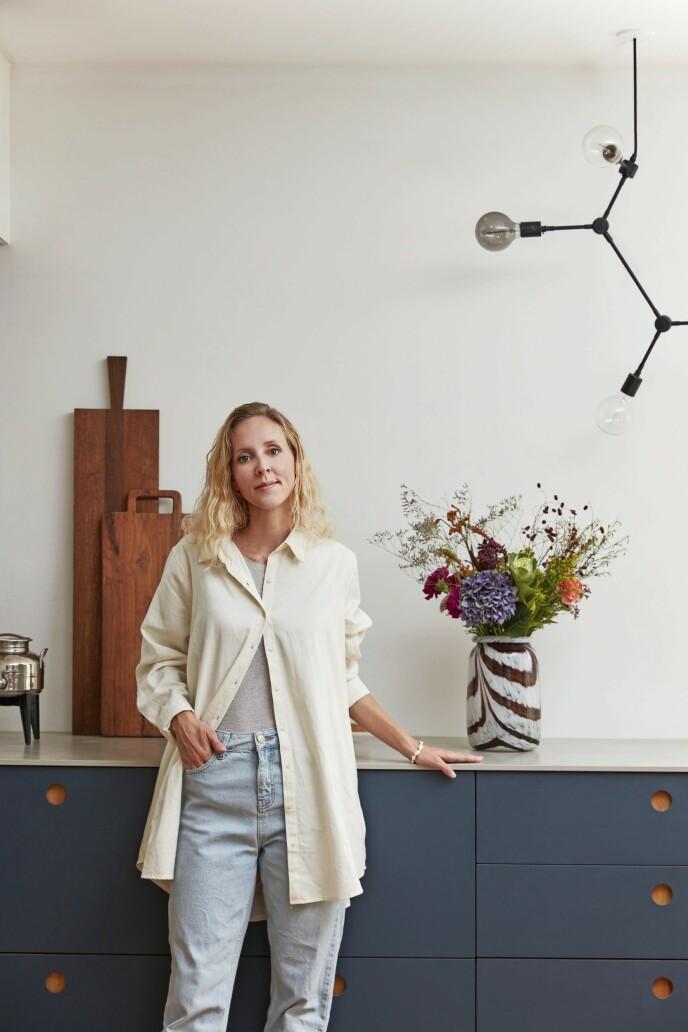 – Jeg elsker å leke med farger både på veggene og i interiører, sier Tine Damborg.