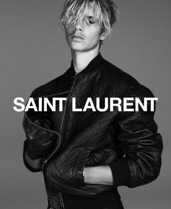 KAMPANJESTJERNE: Romeo Beckham for Saint Laurent. FOTO: INSTAGRAM