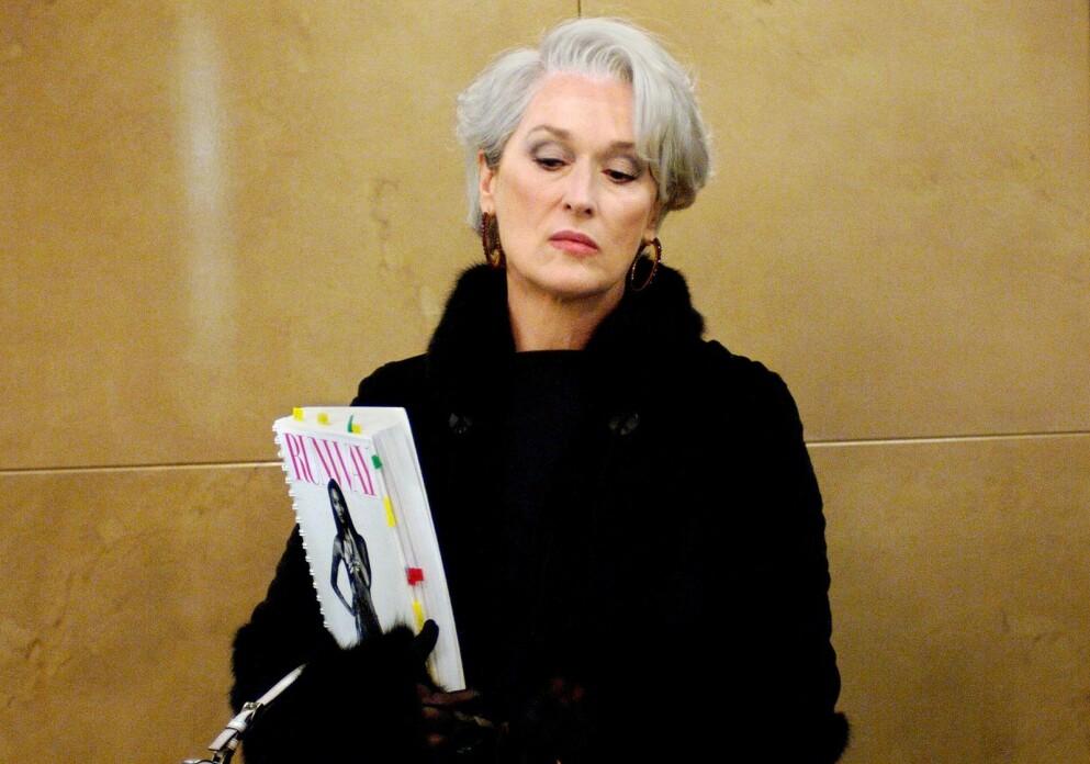 TUNG TID: Rollen som Miranda Priestly i The Devil Wears Prada ga Meryl Streep en Oscar-nominasjon. Men også uventede problemer. FOTO: Moviestore/REX/NTB