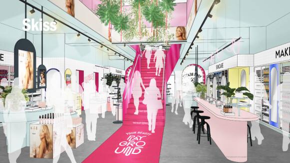 I SENTRUM: Midt i sentrum av Oslo åpner Lyko sin nye butikk. FOTO: LYKO