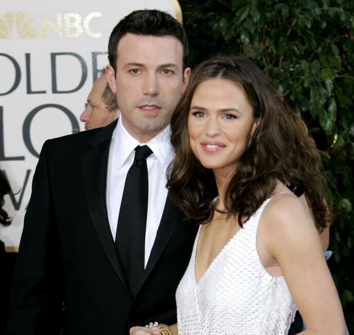 BRYLLUP OG BARN: Jennifer Garner og Ben Affleck var gift i perioden 2005 til 2018, og har tre barn sammen. FOTO: NTB