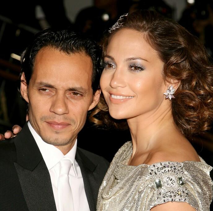 BRUDD: Marc Anthony og Jennifer Lopez var gift i 10 år, fra 2004 til 2014 og har to barn sammen. FOTO: NTB