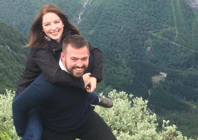 STERK: Torbjørn sammen med kjæresten Karina. FOTO: Privat