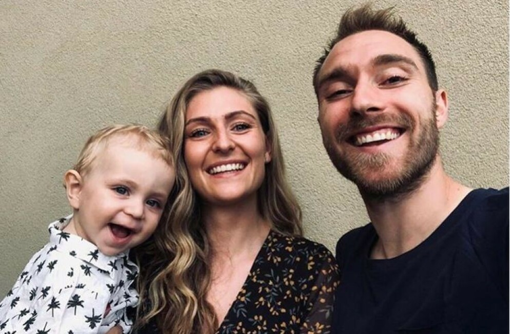 CHRISTIAN ERIKSEN: Den danske fotballspilleren har vært kjæreste med danske Sabrina i ni år. De har to barn sammen. FOTO: Skjermdump / Instagram / @chriseriksen8