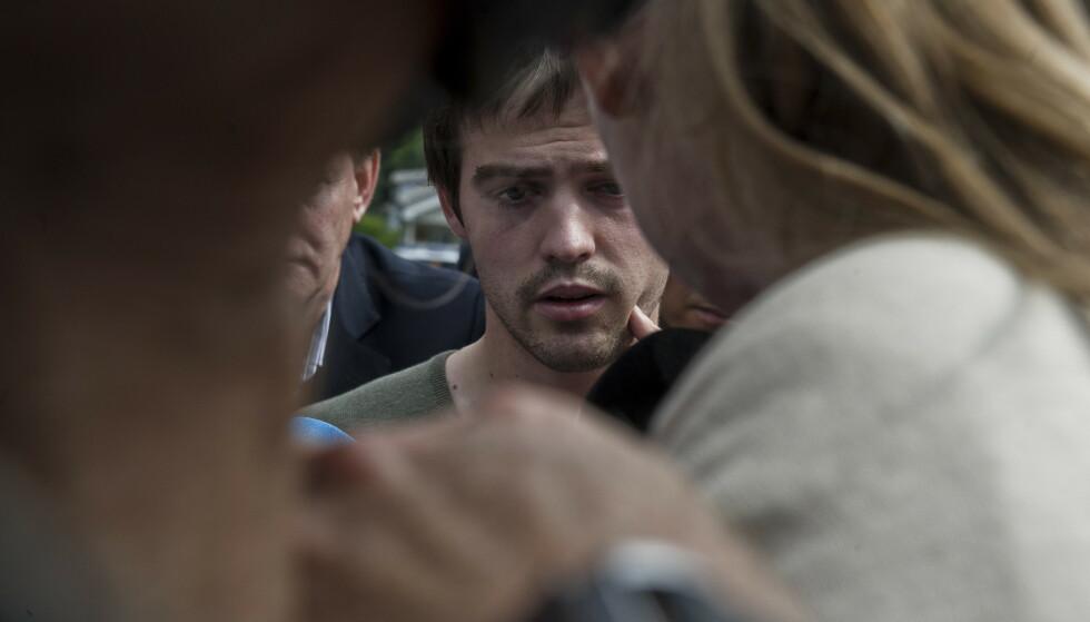 OVERLEVDE: Torbjørn Vereide var 22 år og en av de første som ga intervjuer til pressen etter massakren på Utøya. Hjemme satt moren og lurte på om sønnen noen gang ville bli den samme. Foto: Aleksander Andersen / NTB