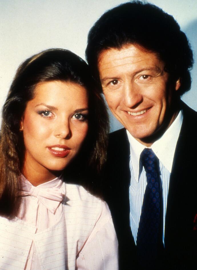 KORT EKTESKAP: Caroline av Monaco med sin daværende forlovede Phillippe Junot i 1978. Paret skilte seg etter bare to år ekteskap. FOTO: NTB