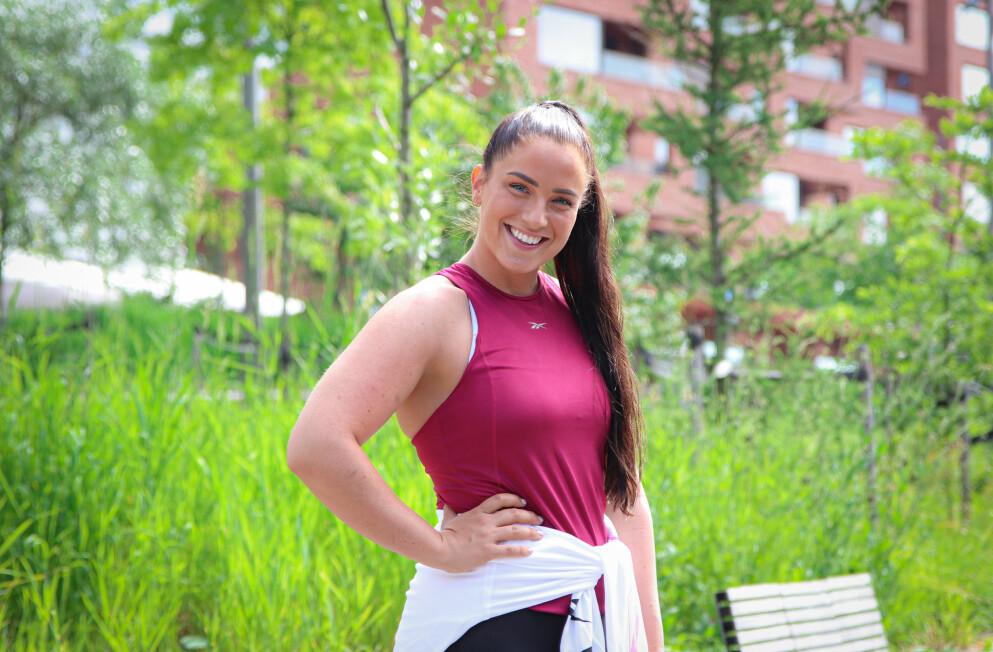 VIL VÆRE STERK: - Da jeg skjønte at man kunne trene for å bli sterk, ga det meg masse treningslyst og motivasjon, sier Katarina Sollid. Foto: Ida Bergersen