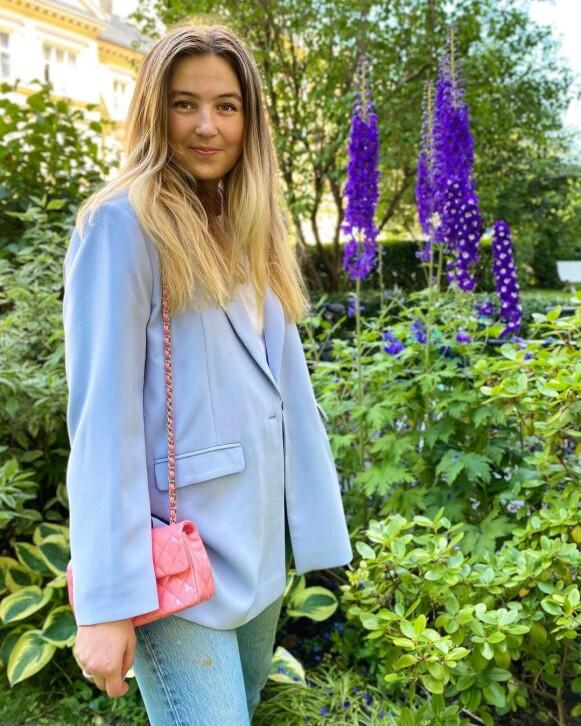 SAVNER IKKE TRENDEN: Journalist i MinMote, Elise Alexandra Gulbrandsen, forteller til KK at hun ikke savner lave jeans. FOTO: PRIVAT