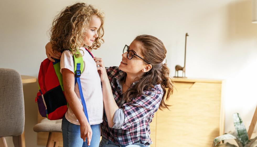 KLAR FOR SKOLESTART: Det finnes mange måter du som forelder kan bidra til at overgangen går så smidig som mulig, men også fallgruver du helst bør unngå. FOTO: NTB Scanpix