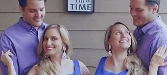 Tvillingsøstre ammer hverandres barn