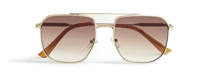 Solbriller med brunt glass (kr 300, Mango).