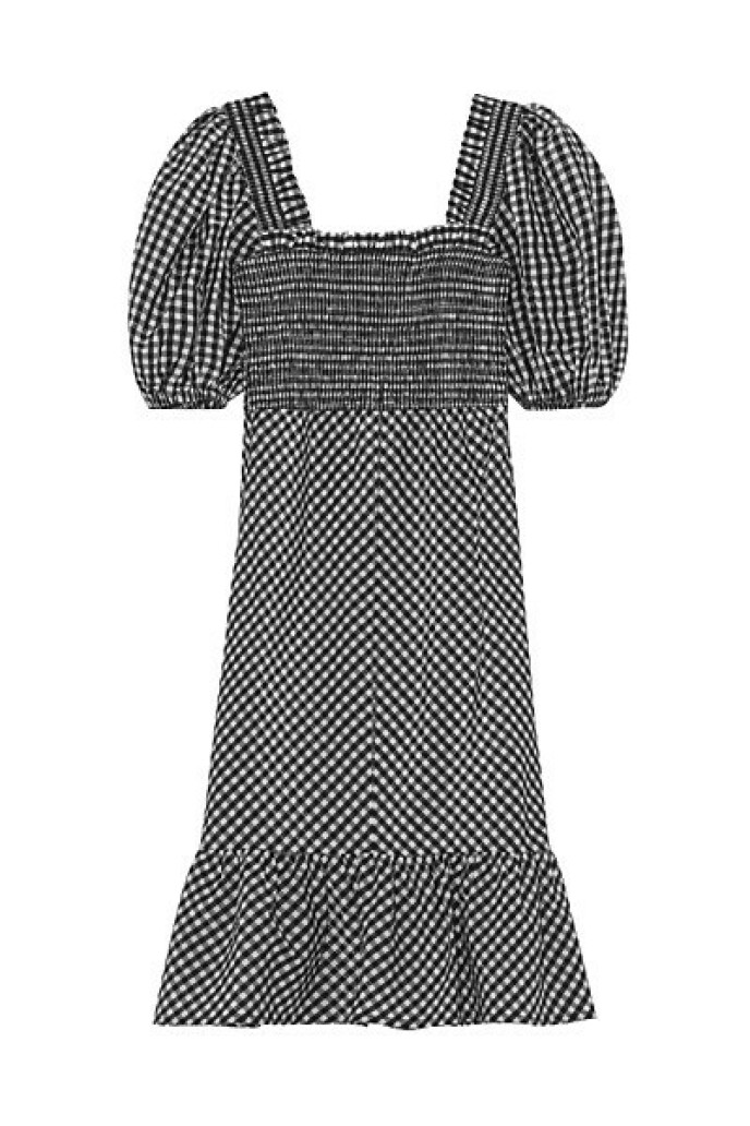 Rutete kjole (kr 2195, Ganni).