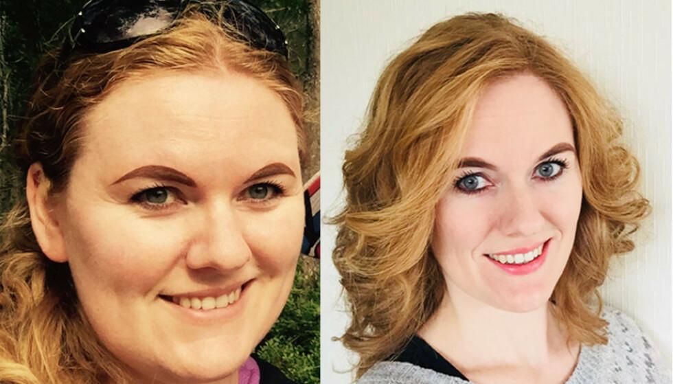 FØRTI KILO LETTERE: Lena (40) gikk ned flere titalls kilo og innrømmer at man først blir litt høy på seg selv og alle komplimentene man får. Men denne fasen varer ikke for alltid. Foto: Privat