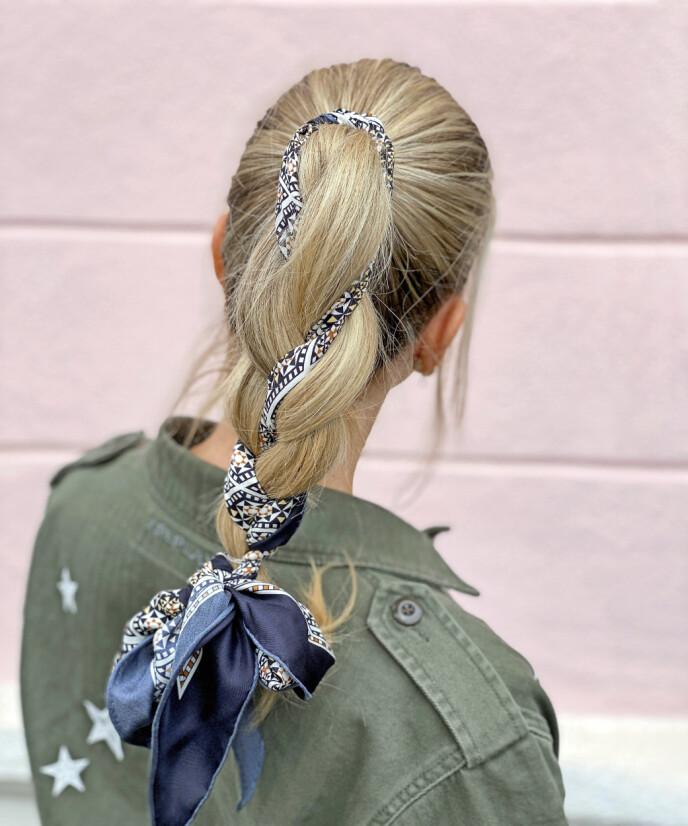 Tips! Denne frisyren ser også veldig fin ut om du setter den lavt i nakken.