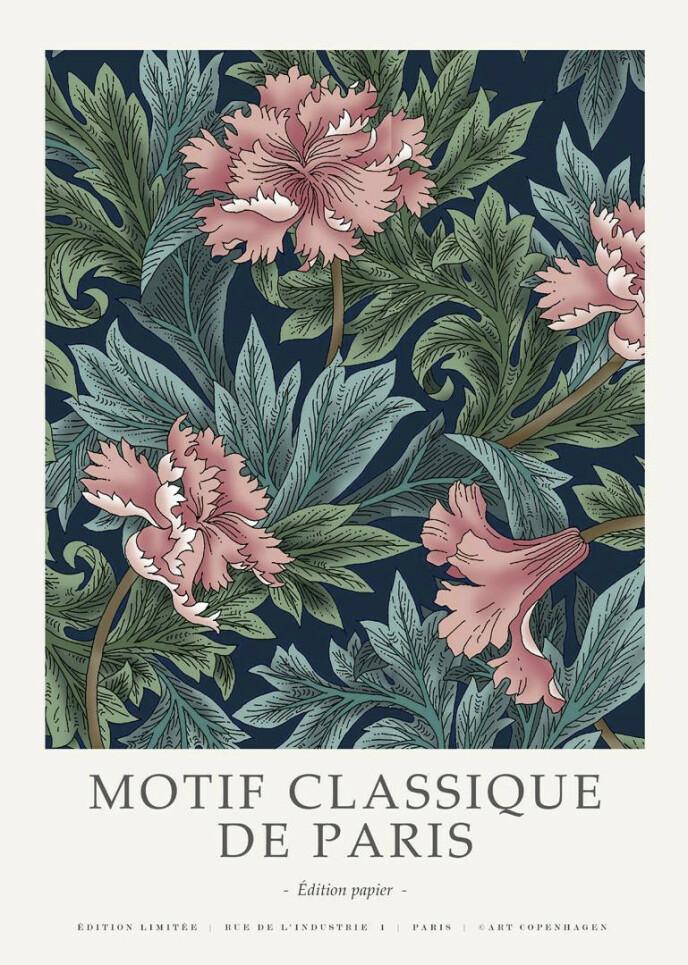 Plakat med blomster (kr 200, Malefabrikken).