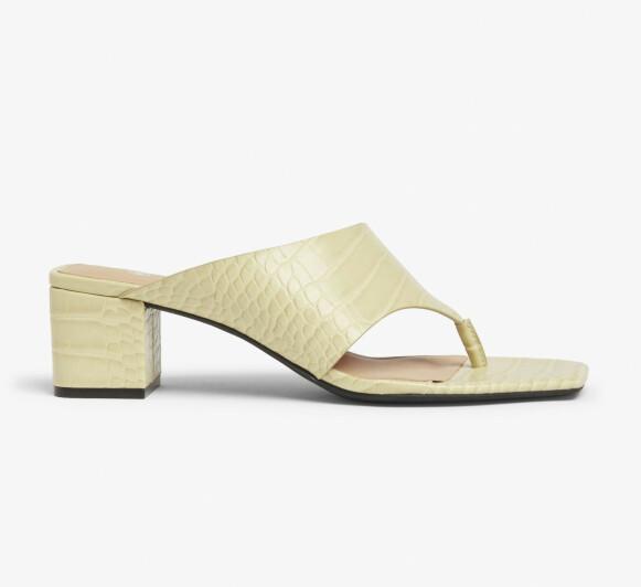 Høyhælte sandaler (kr 300, Monki).