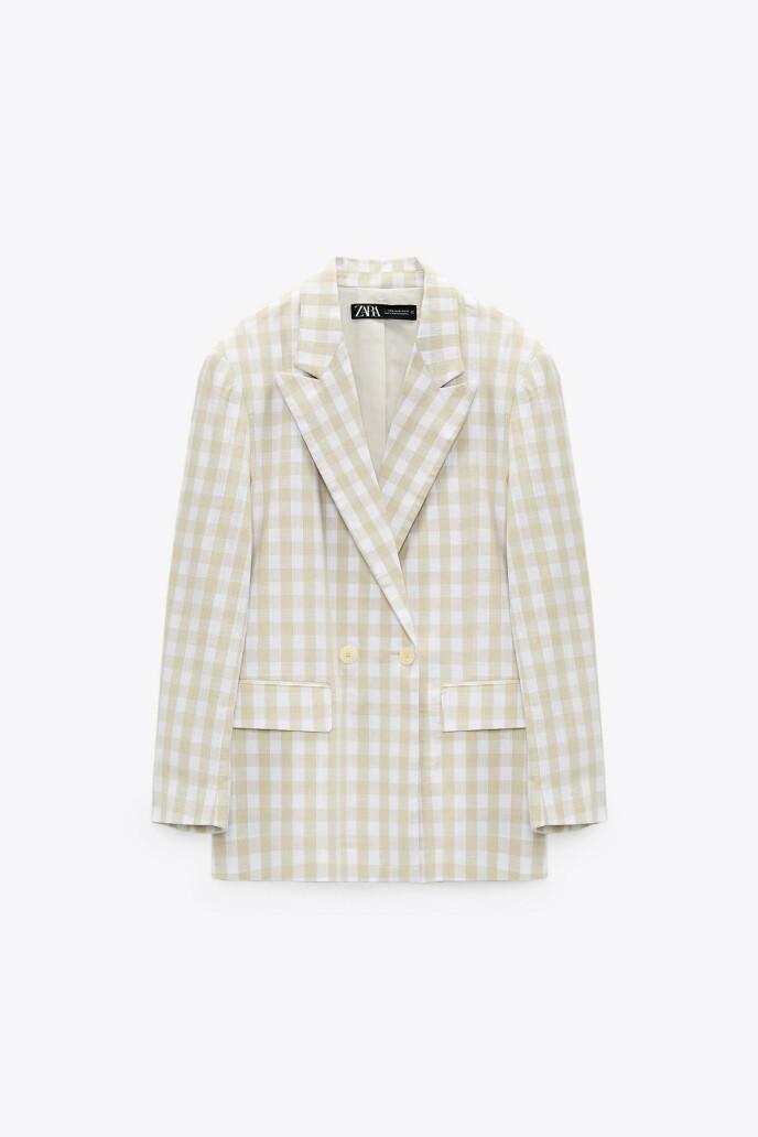 Rutete blazer (kr 600, Zara).