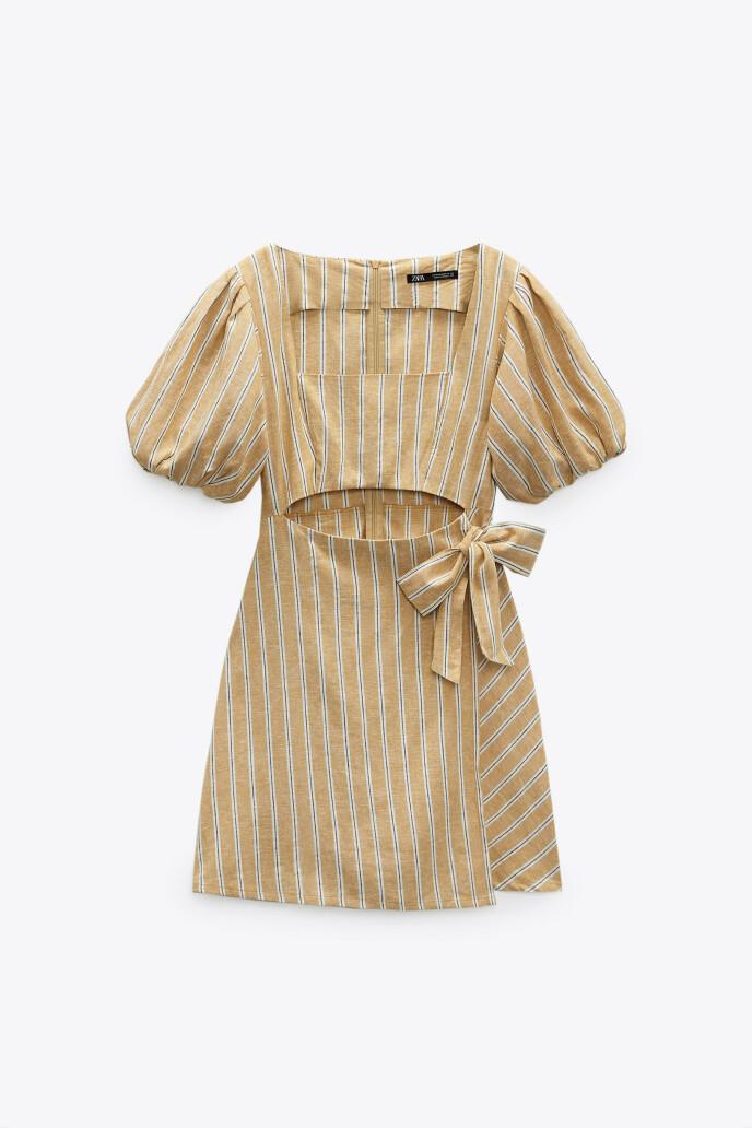 Stripete minikjole (kr 450, Zara).