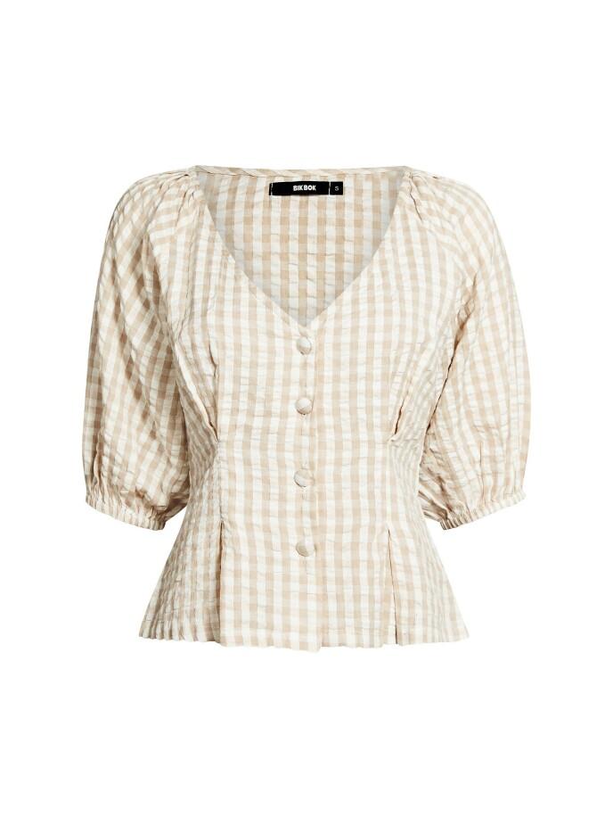 Rutete bluse (kr 300, Bik Bok).
