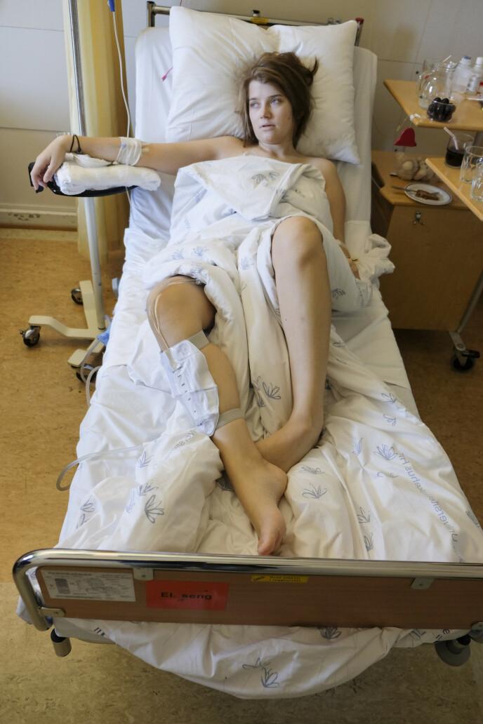 – I romjula 2018 bestemte legene på Ullevål at jeg skulle få immunterapi på deres regning FOTO: Privat