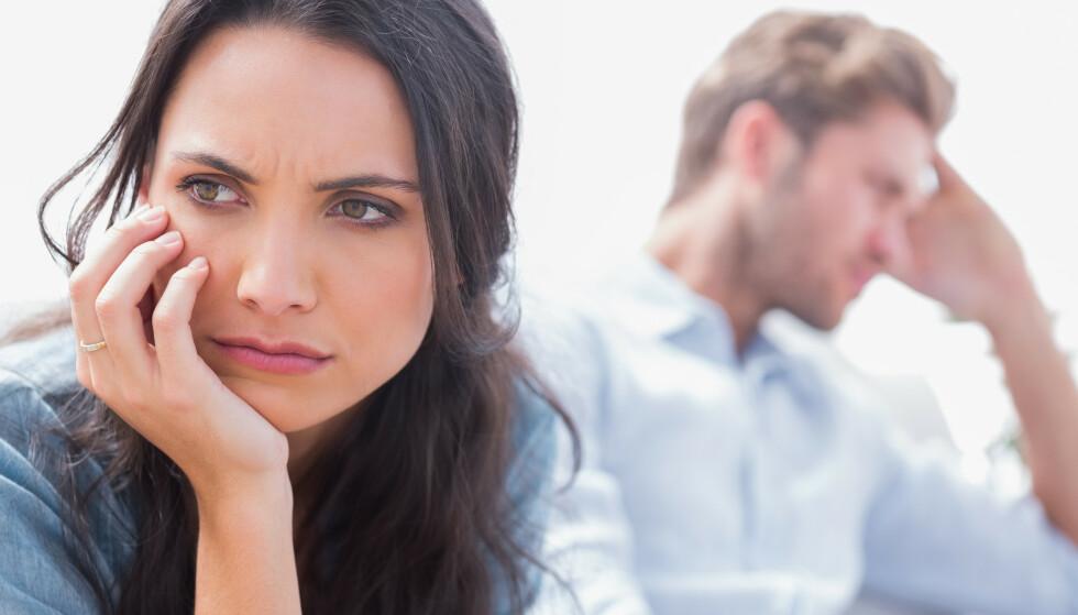 KONFLIKTER: Parterapeuten merker at mange par har slitt på grunn av konornapandemien. Foto: NTB