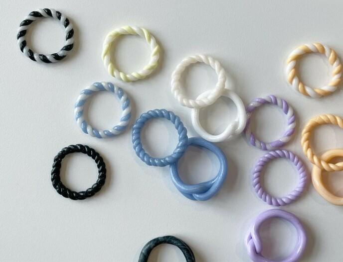 KREATIV: Lag ringene akkurat som du vil! Foto: Instagram @heeclay_c