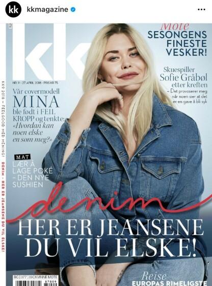 COVER: Transseksuelle Mina Alette Høvik var på KK-cover i 2018. FAKSIMILE: KK