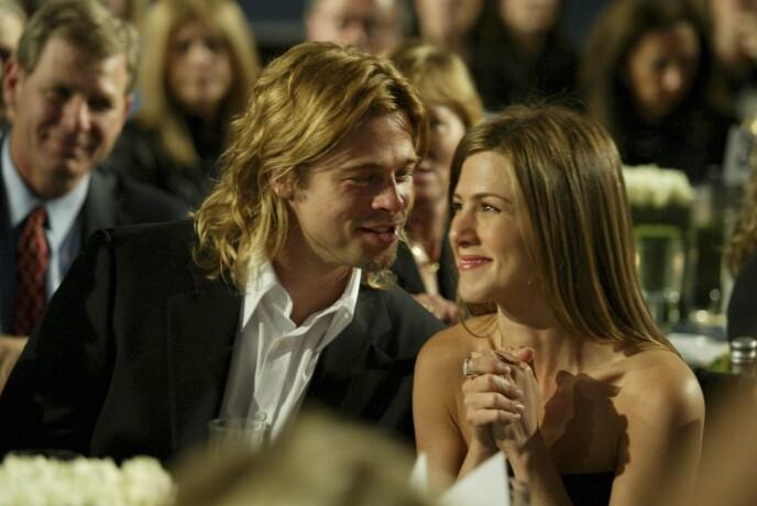 Jennifer var gift med Brad Pitt i fem år. Her er de fotografert i 2003, to år før skilsmissen. FOTO: Alex Berliner/BEI/REX