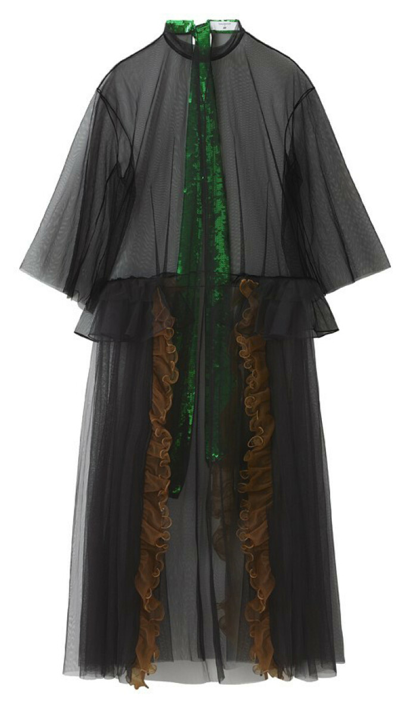 Kjole med rysjer og paljetter (kr 1500, Toga Archives x H&M).
