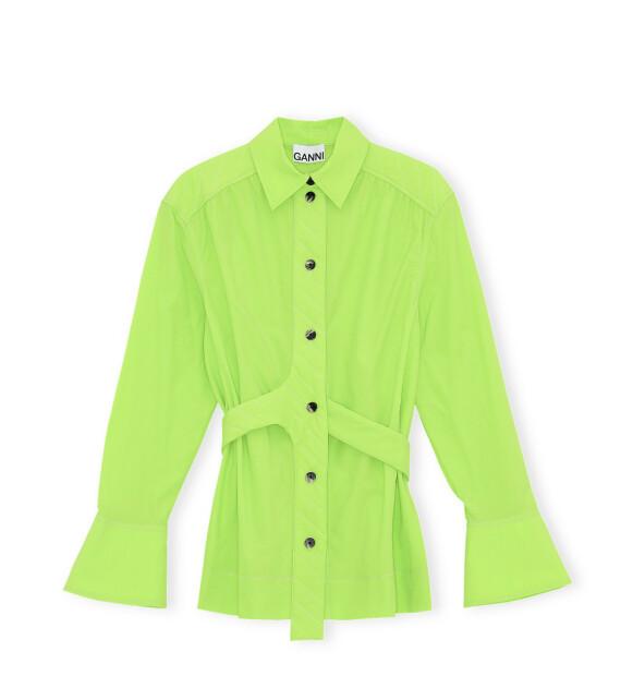 Neongrønn skjorte (kr 2095, Ganni).
