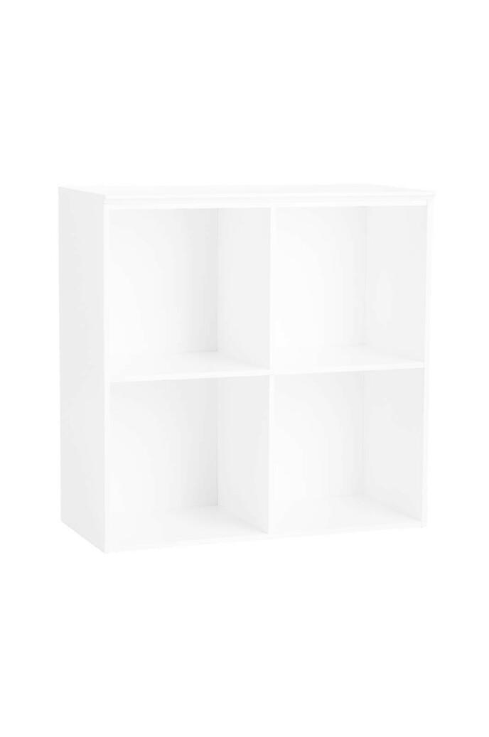 Hvit modulhylle (kr 1200, Ikea).