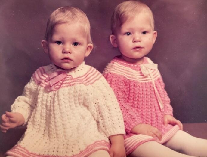 TIDLIG KRØKES: Tvillingene Trine og Trude ble født i 1980. FOTO: Privat