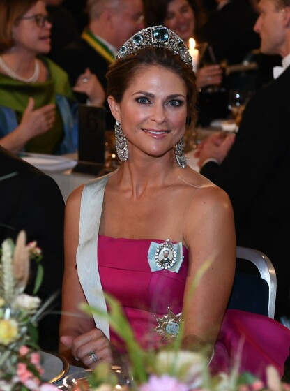 SISTE OFFENTLIGE OPPTREDEN: Prinsesse Madeleine fotografert under Nobelgallaen i Stockholm i 2019. FOTO: NTB