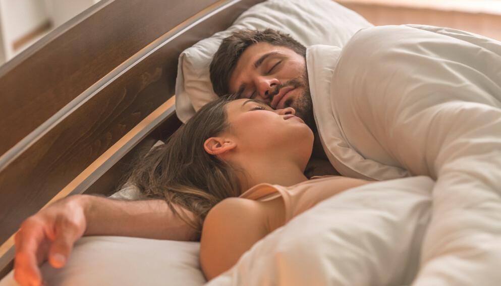 SOVESTILLING: Hvordan vi sover kan si en god del om parforholdet. FOTO: NTB