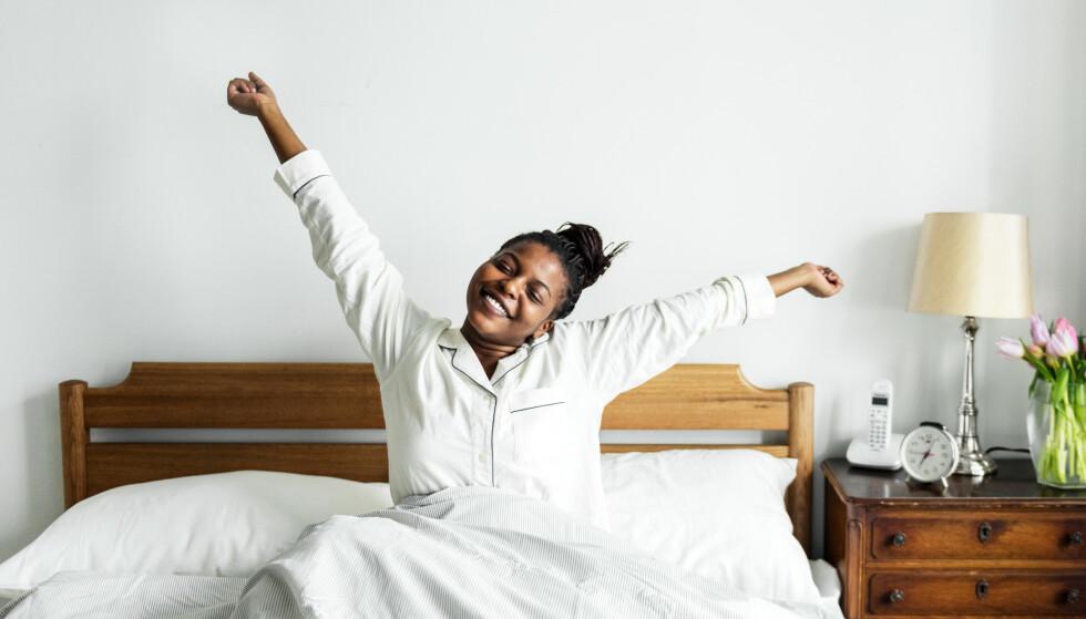 GODT Å VÆRE UTHVILT: Å våkne etter å ha sovet godt og nok, og ha nok tid til morgenrutiner uten for mye stress, kan gi en god følelse.