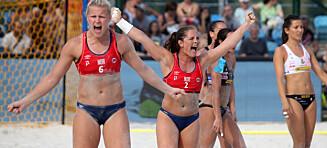 Pink i harnisk - vil betale boten til de norske strandhåndballjentene