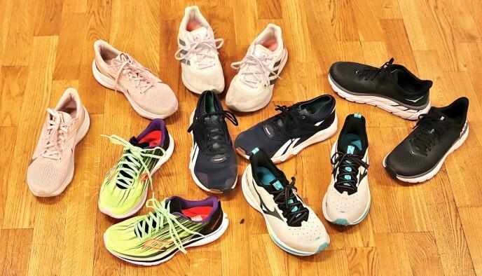 POPULÆRE MERKER: Vi har testet sko fra seks populære merker. Foto: Ida Bergersen