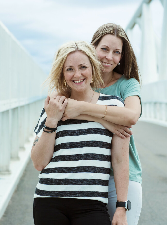 LEVE VIDERE: - Vi har duracell-genet begge to, sier de to venninnene. FOTO: Astrid Waller