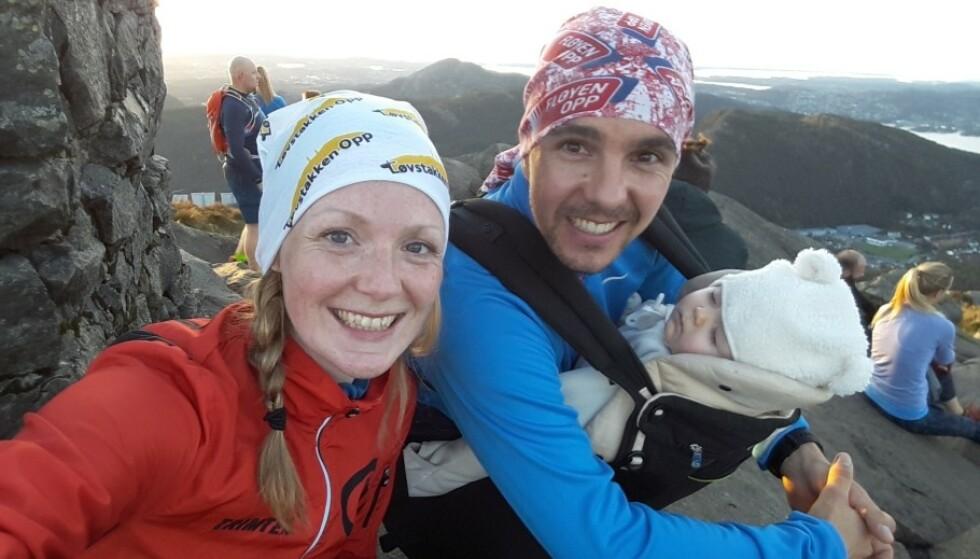 FORELSKA: Elisabeth og Mats var sporty og hade livet foran seg som familie. FOTO: Privat