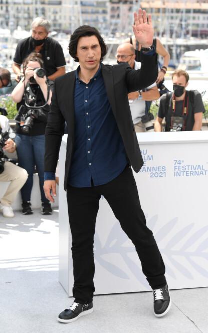 I CANNES: Adam Driver er på plass i Cannes for å promotere filmen Annette. FOTO: NTB