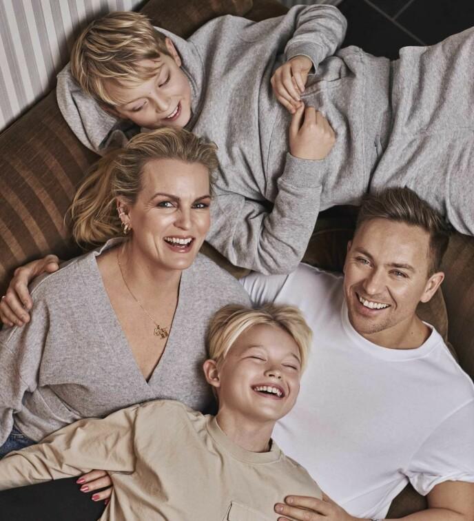 TOBARNSMOR: Sammen med ektemannen Håvard Tvedten har Guro sønnene Luka Tobias (11) og Daniel Leander (10). FOTO: Truls Qvale