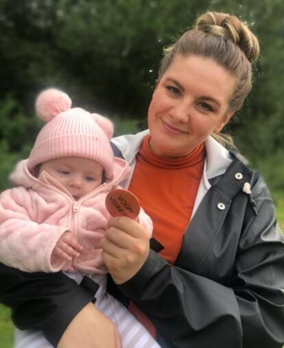 I STARTGROPA: Victoria håper at flere foreldre får øynene opp for VognVenn, slik at de lettere kan knytte kontakter i nabolaget. FOTO: Privat