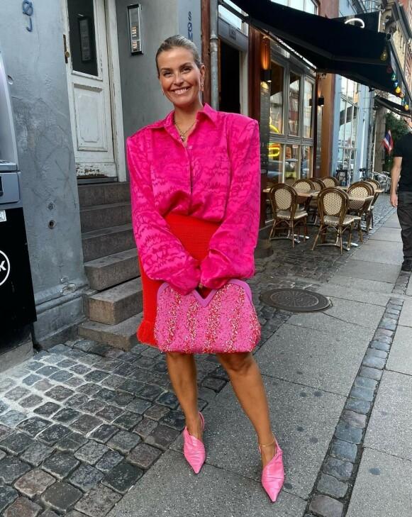 INFLUENSER: Janka Polliani lot seg imponere av blant annet Saks Potts under den danske moteuka. FOTO: INSTAGRAM @JANKAPOLLIANI