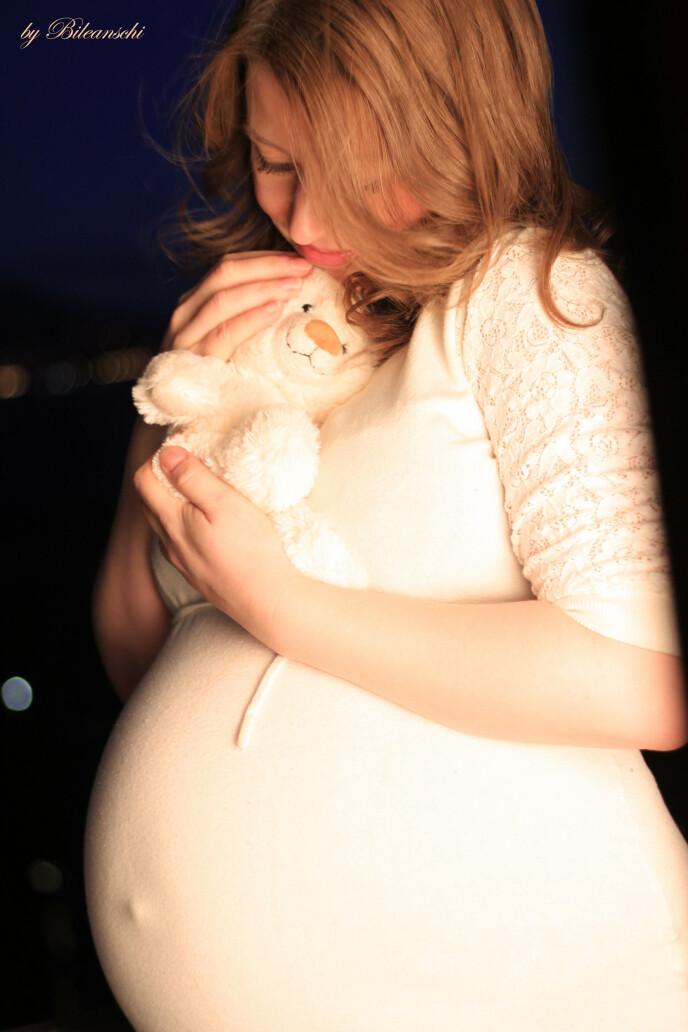 GRAVID: – På ultralyden så jeg en baby som turnet rundt og jeg var 22 uker på vei. FOTO: Privat