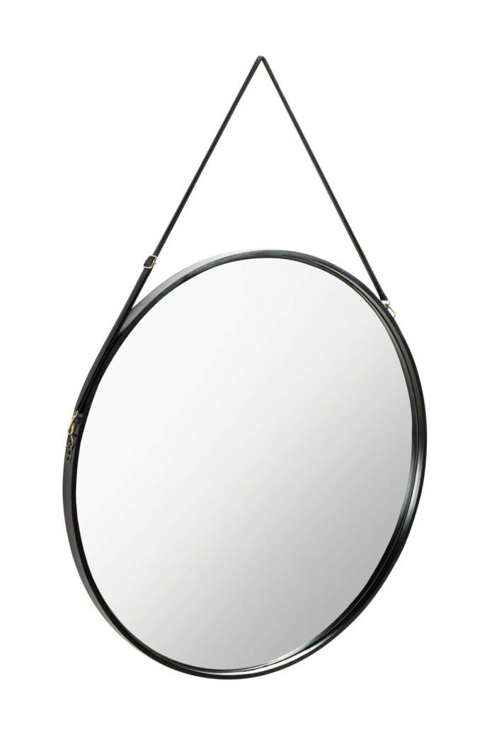 Rundt speil med oppheng (kr 1500, Ellos Home).