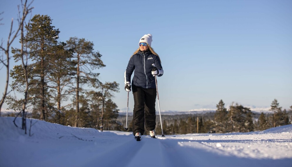 STYGT FALL: Tove kan takke 113-appen for at det gikk bra da hun falt stygt på skitur og ingen visste hvor hun befant seg. FOTO: Thomas Kleiven
