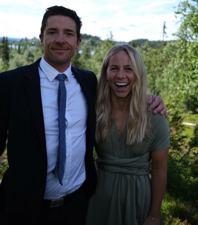 KJÆRESTER: Tiril Eckhoff har vært kjæreste med den tidligere langrennsløperen Ånund Lid Byggland siden begynnelsen av 20-årene. FOTO: Privat