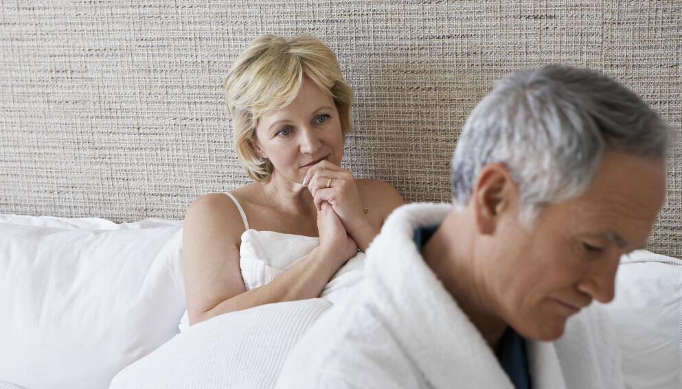 MISFORNØYD: Kvinne (53) ønsker seg et mer aktivt sexliv, men vet ikke hvordan hun skal gå frem. Foto: NTB